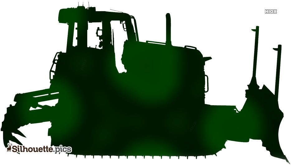 Cartoon Bulldozer Silhouette