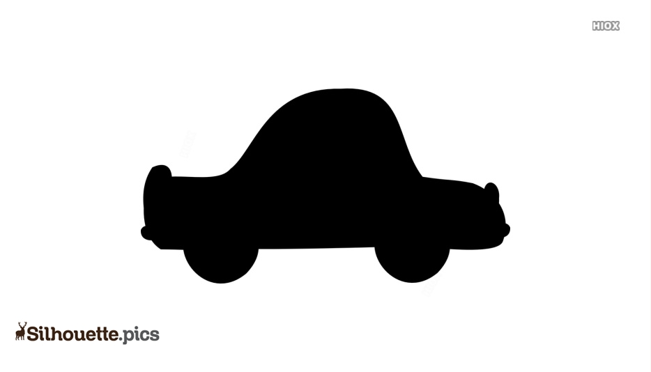 Cartoon Car Ride Silhouette Background