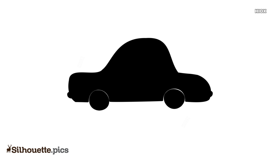 Cartoon Car Silhouette Art Vector Image