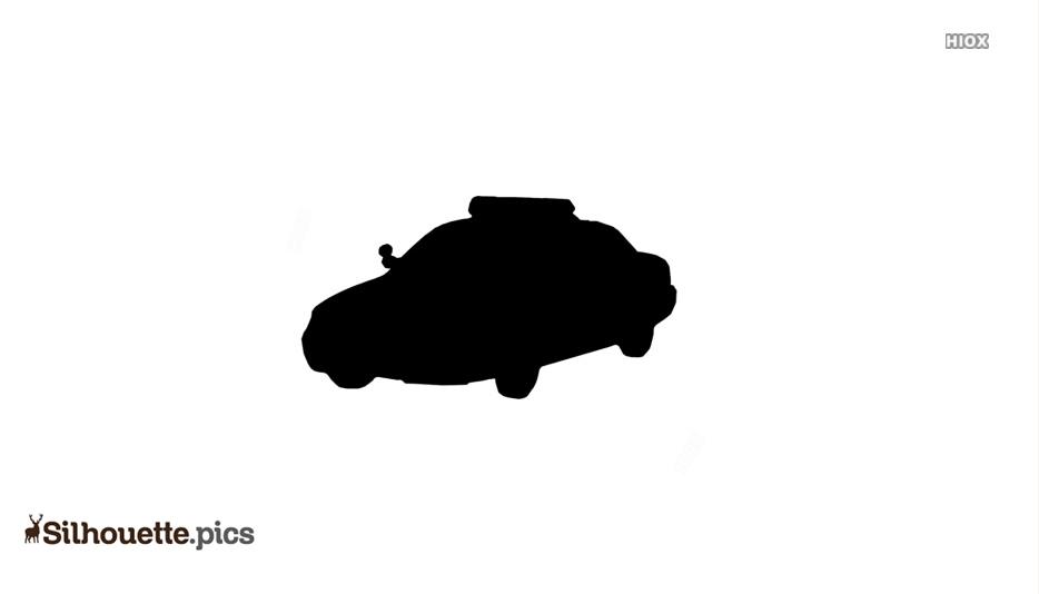 Cartoon Car Silhouette Background