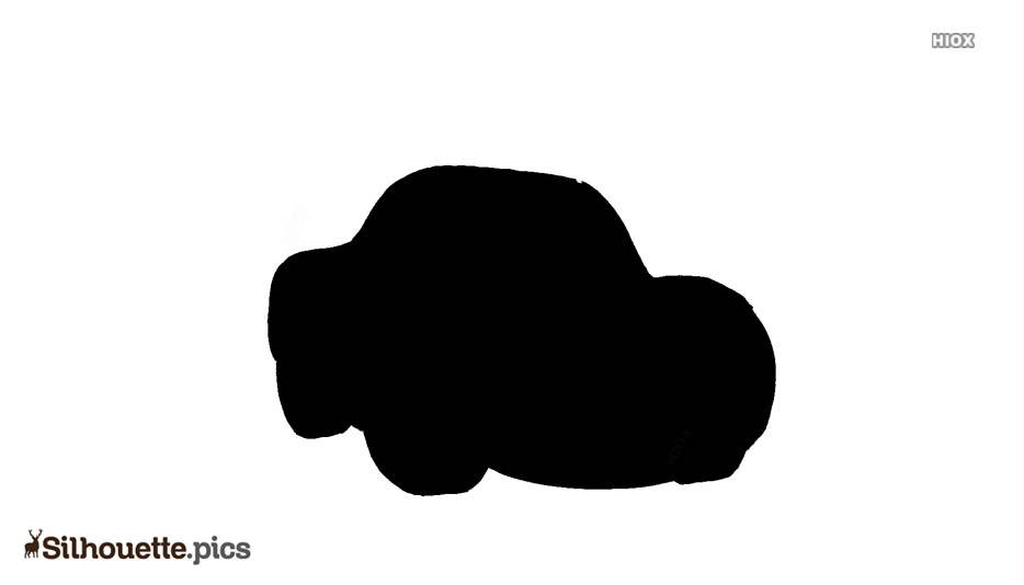 Cartoon Car Silhouette Background Clipart