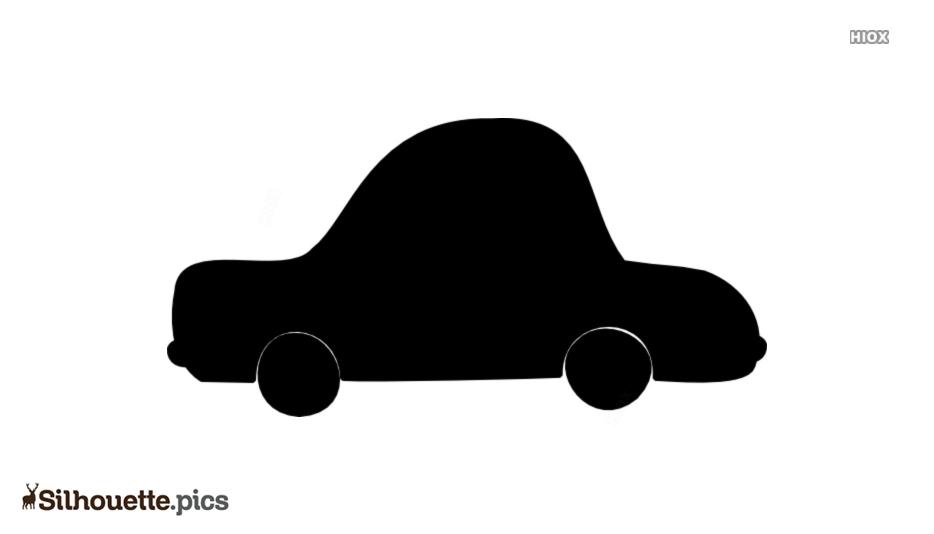 Cartoon Car Silhouette Clipart Vector Image