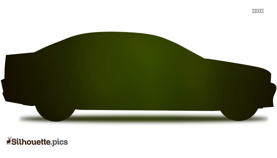 Cartoon Car Silhouette Free Vector Art