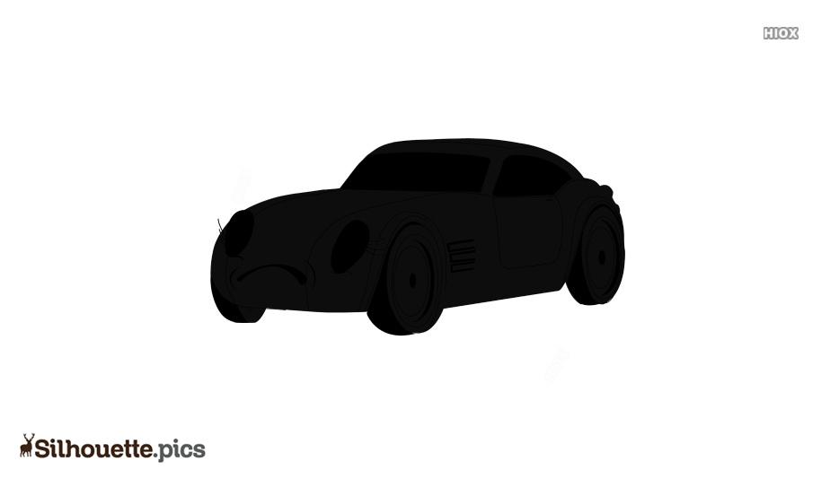 Cartoon Car Silhouette Free Vector Art Image