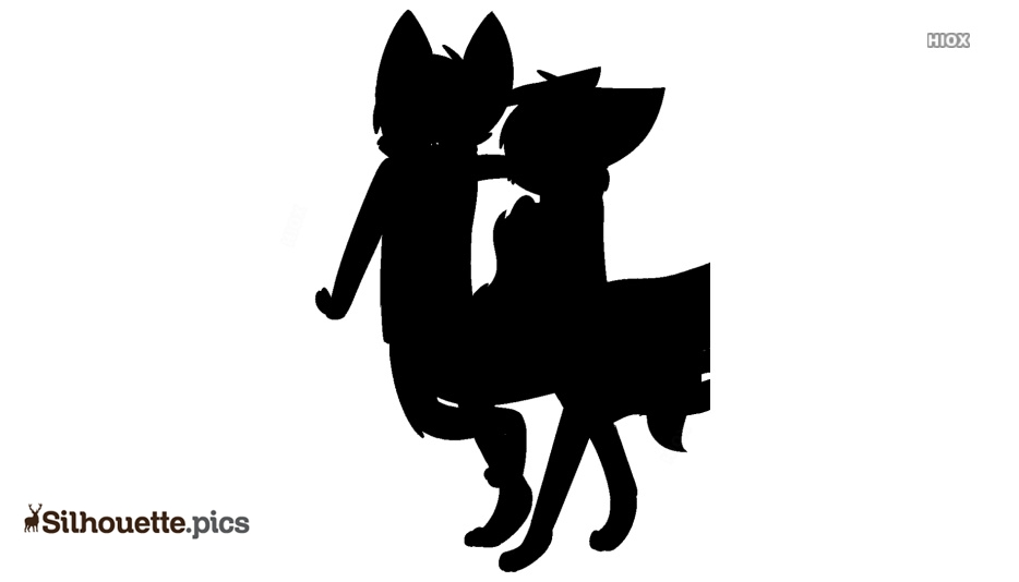 Cartoon Cat Silhouette Illustration Image