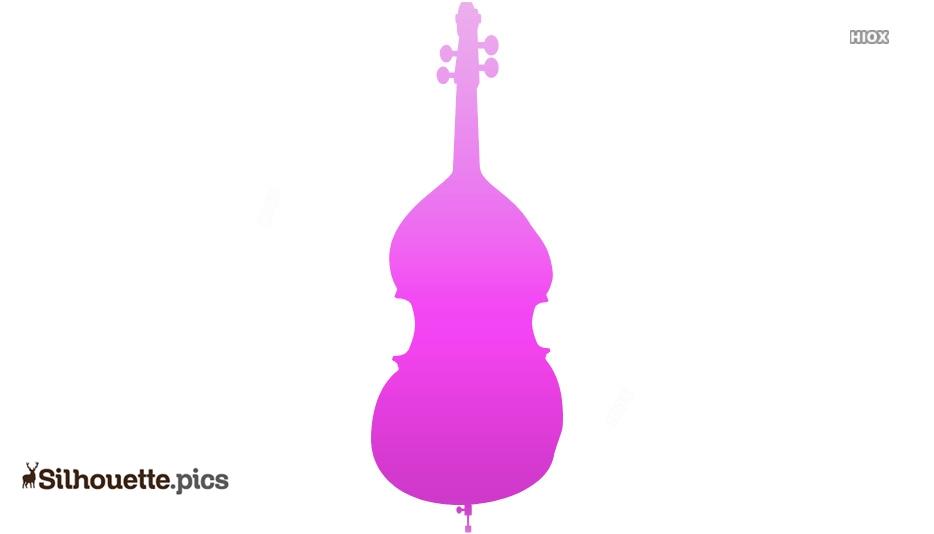 Cartoon Cello Silhouette Clipart