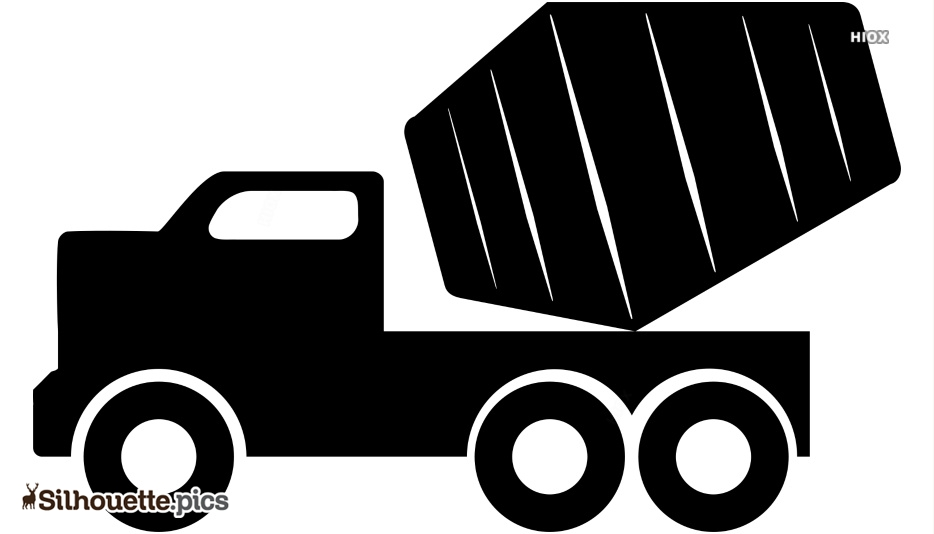 Cartoon Cement Mixer Silhouette Art