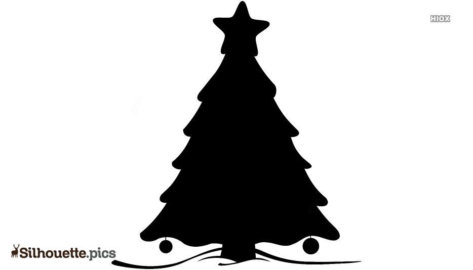 Cartoon Christmas Tree Silhouette Picture