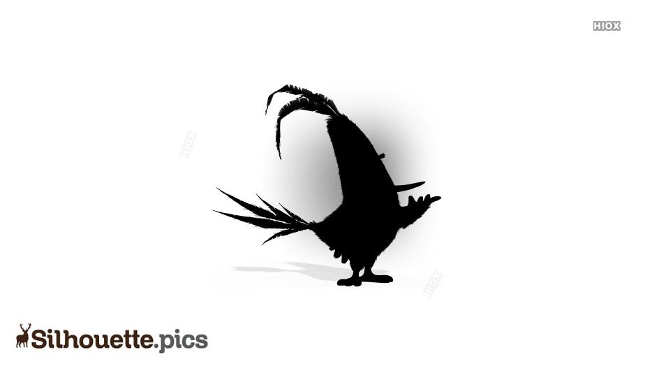 Cartoon Cock Silhouette