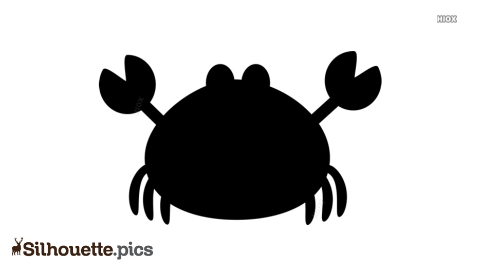 Cartoon Crab Silhouette
