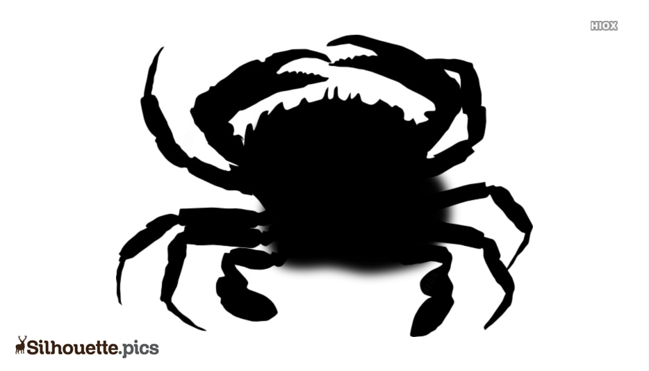 Cartoon Crab Silhouette Clip Art And Vector Image