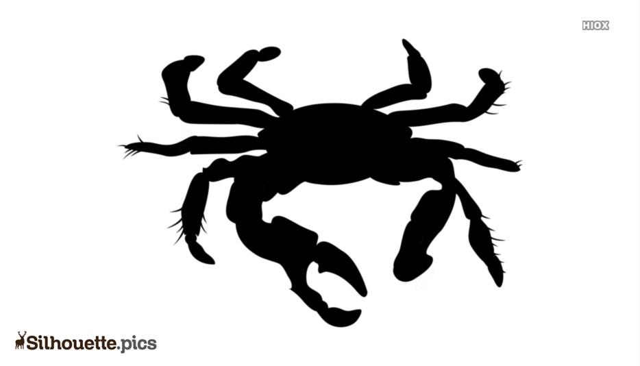 Cartoon Crab Silhouette Icon