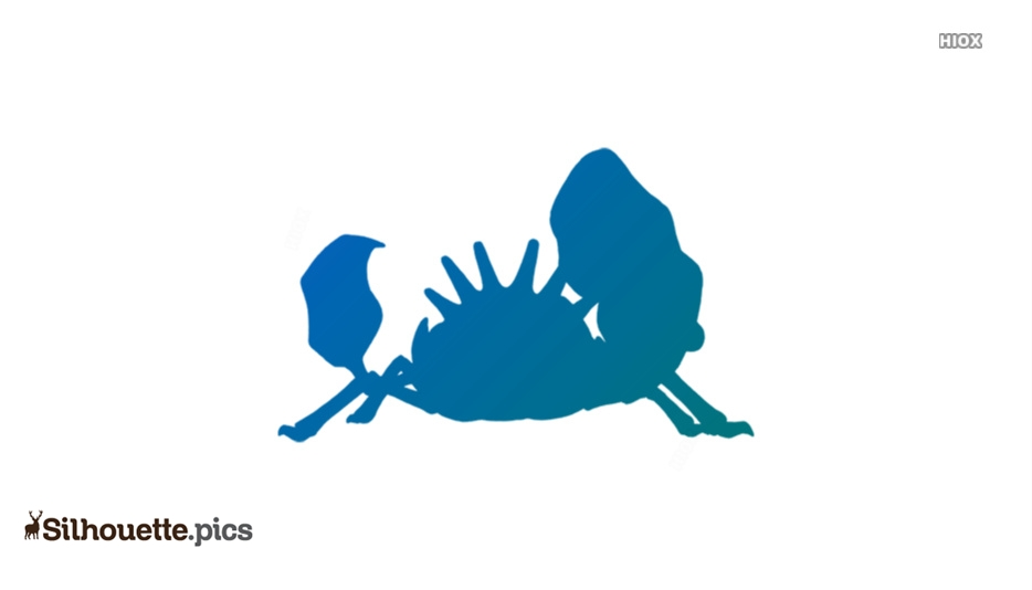 Cartoon Crab Silhouette Vector Graphics