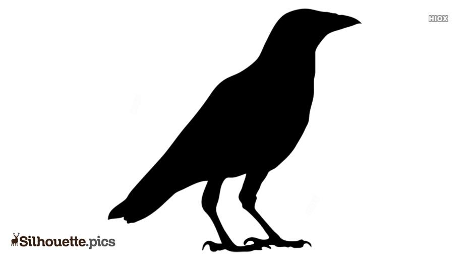 Cartoon Crow Silhouette Clip Art