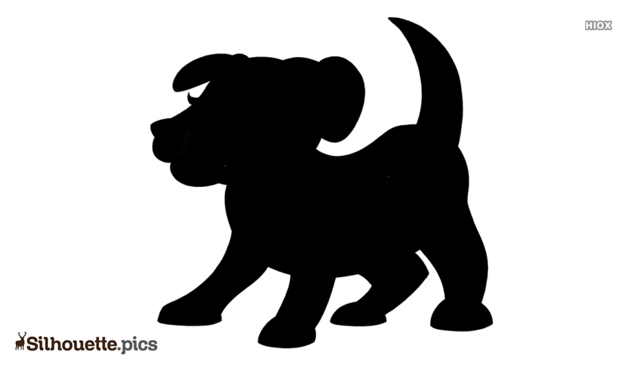 Cartoon Dog Easy Drawing Silhouette