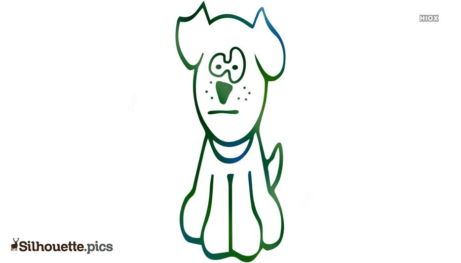 Cartoon Dog Silhouette Clipart