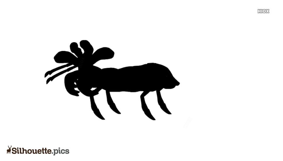 Cartoon European Mantis Silhouette
