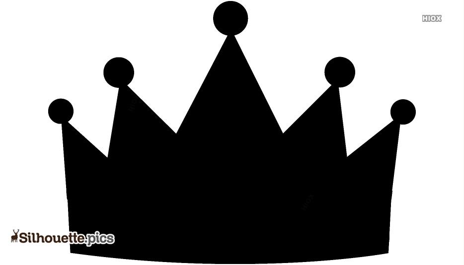 Cartoon Female Crown Silhouette