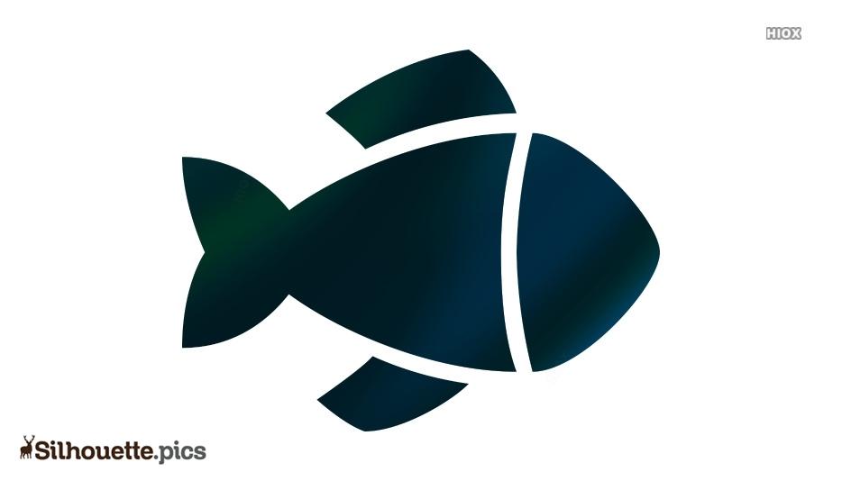 Cartoon Fish Silhouette Background