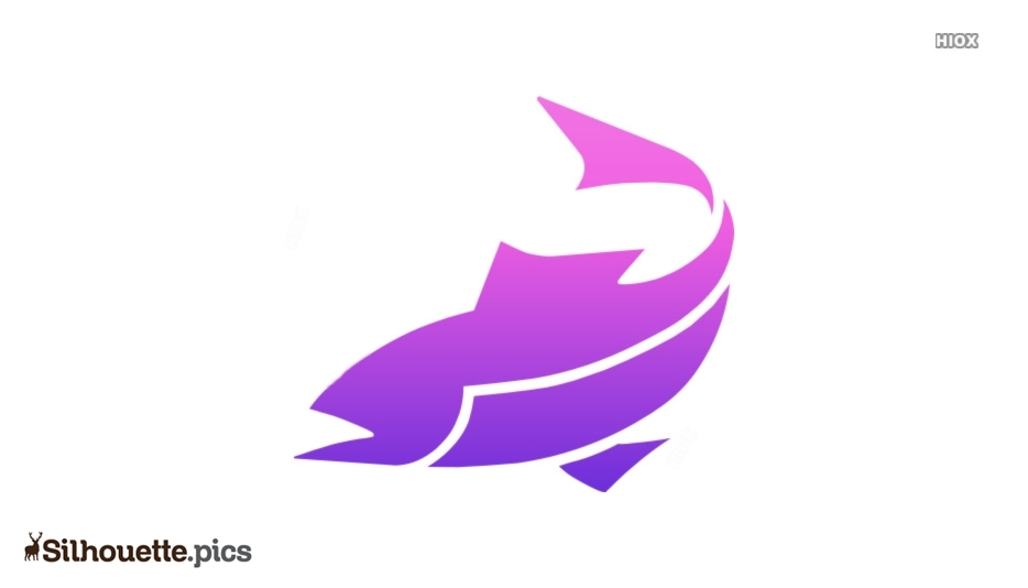 Cartoon Fish Silhouette Vector Graphics Image