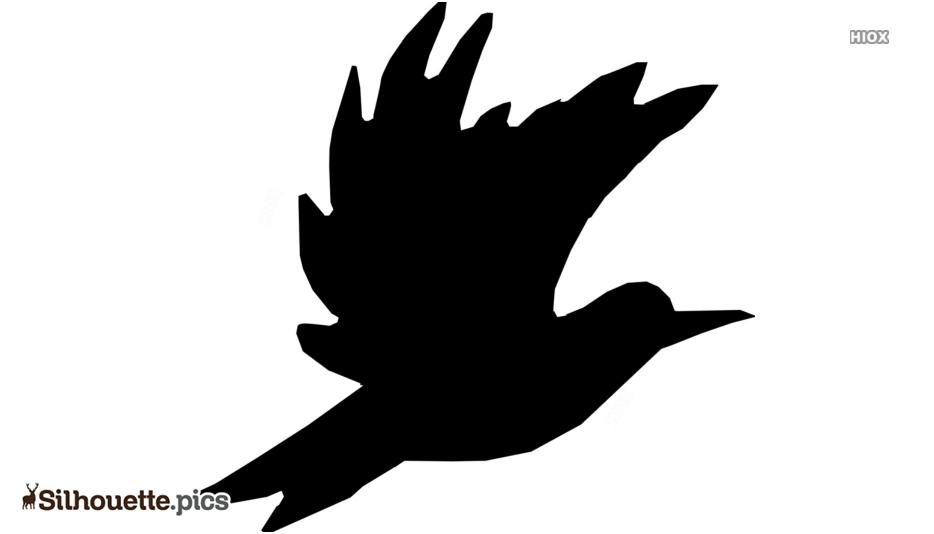 Cartoon Flying Bird Silhouette Vector