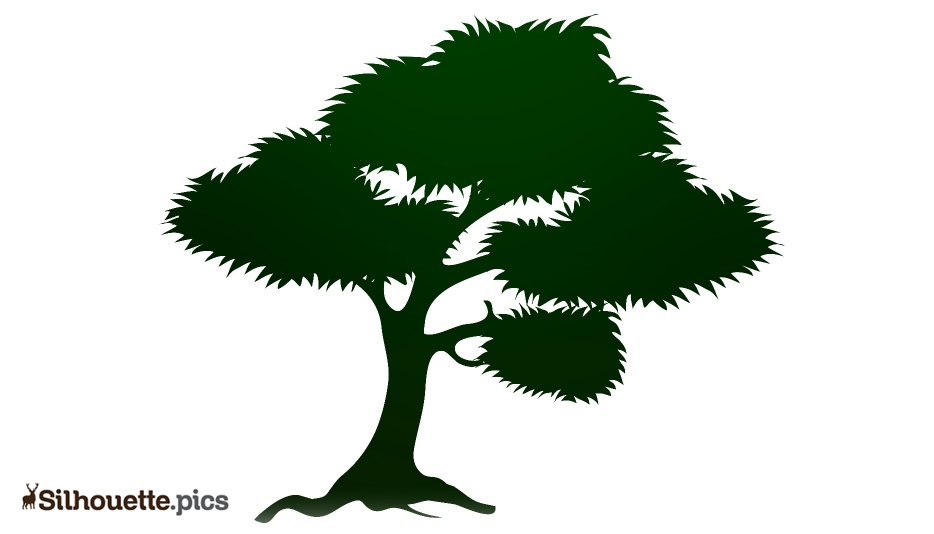 Cartoon Forest Tree Silhouette Background