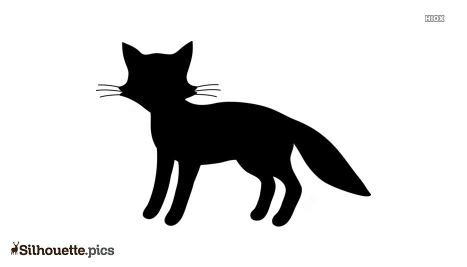 Cartoon Fox Coloring Silhouette Image