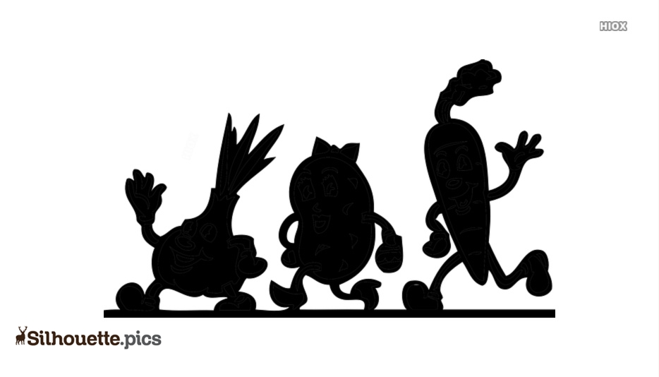 Cartoon Fruit Silhouette Images