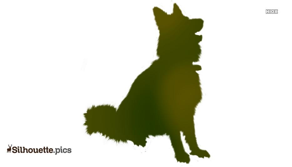 Cartoon German Shepherd Silhouette Image