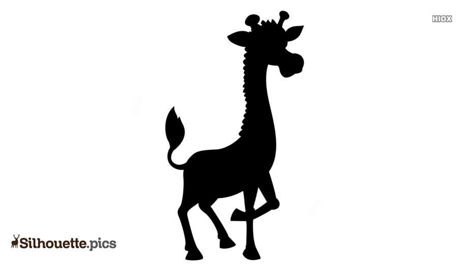 Cartoon Giraffe Silhouette Background
