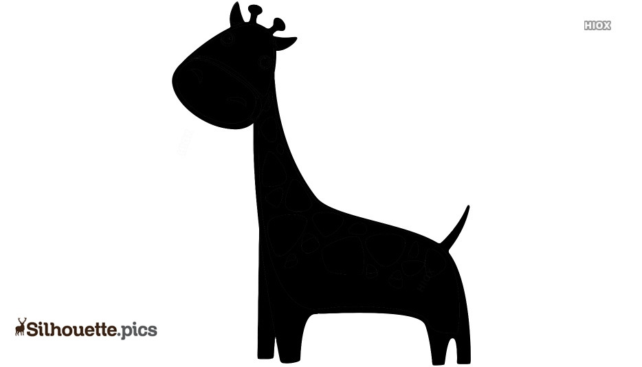 Cartoon Giraffe Silhouette Picture