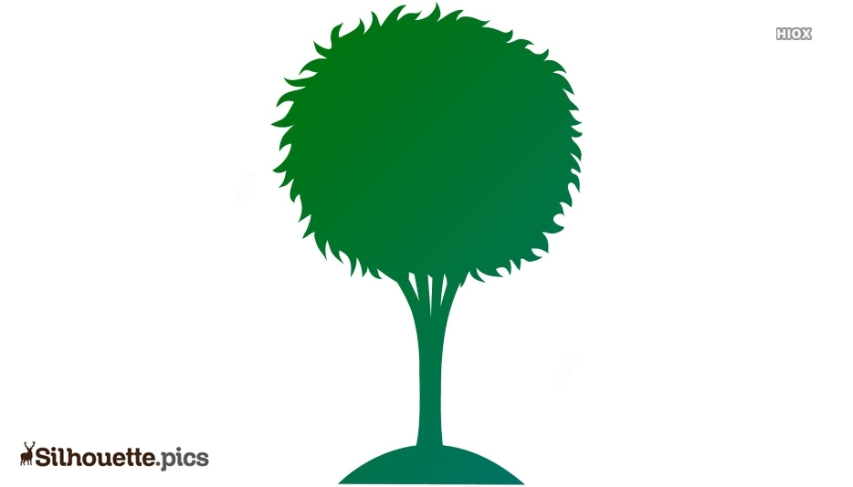 Cartoon Tree Silhouette Images, Pictures
