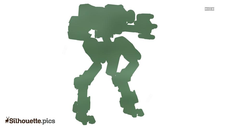 Cartoon Halo 4 Mantis Silhouette