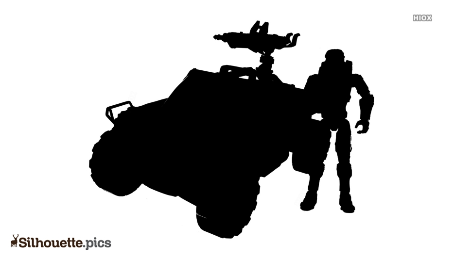 Cartoon Halo Warthog Silhouette