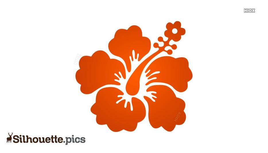 Cartoon Hibiscus Flower Clipart Silhouette