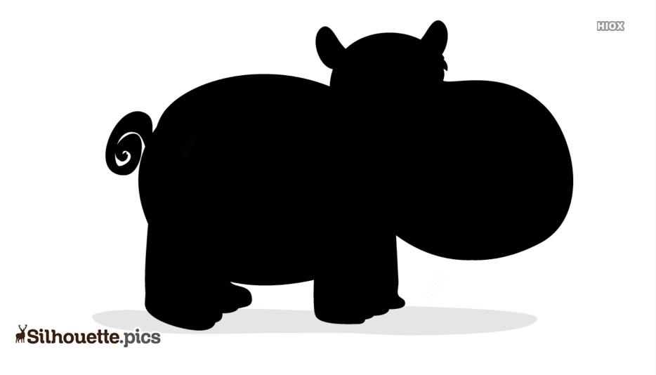 Cartoon Hippopotamus Clipart Silhouette