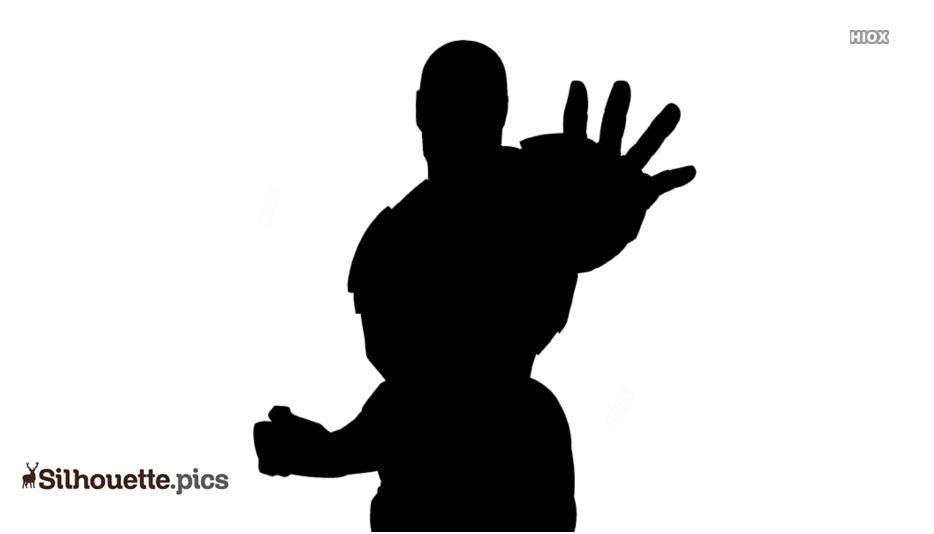 Cartoon Iron Man Pose Silhouette