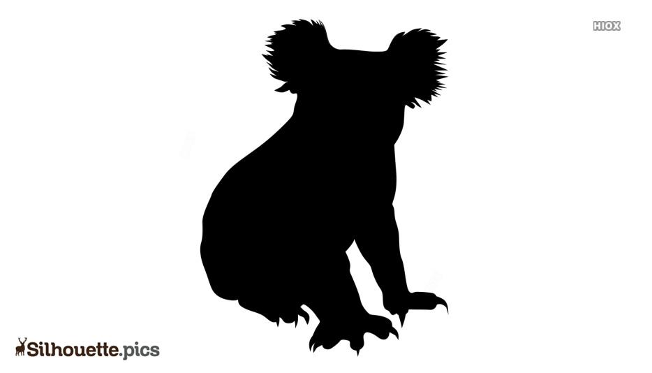 Cartoon Koala Silhouette Clip Art