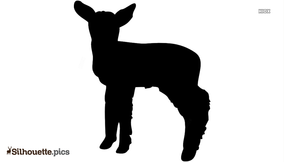 Cartoon Lamb Silhouette For Download