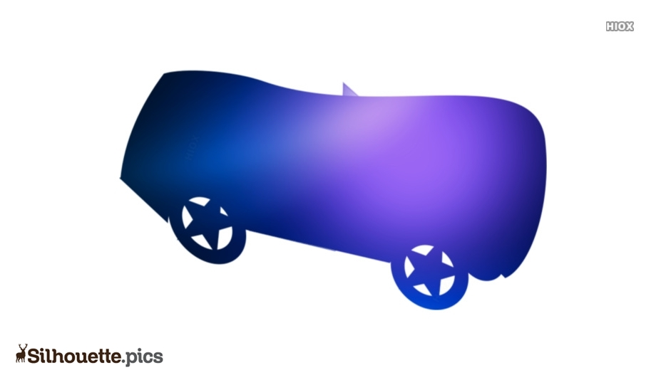 Cartoon Lemon Car Silhouette