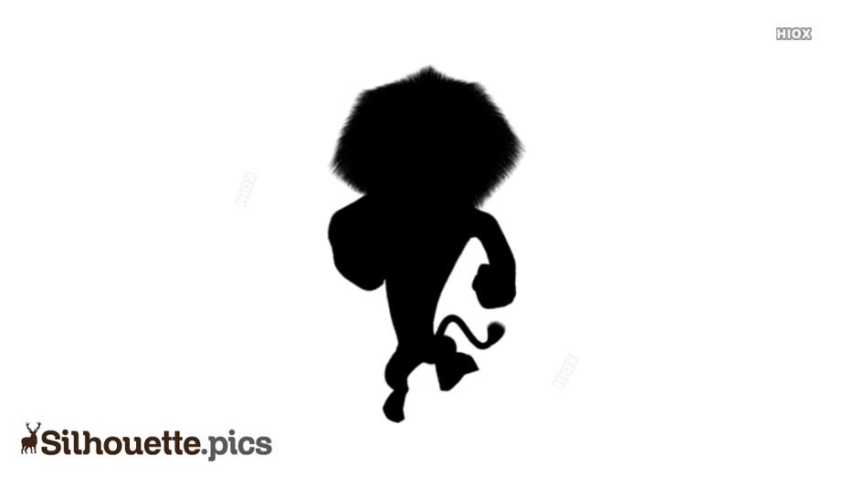 Cartoon Lion King Silhouette