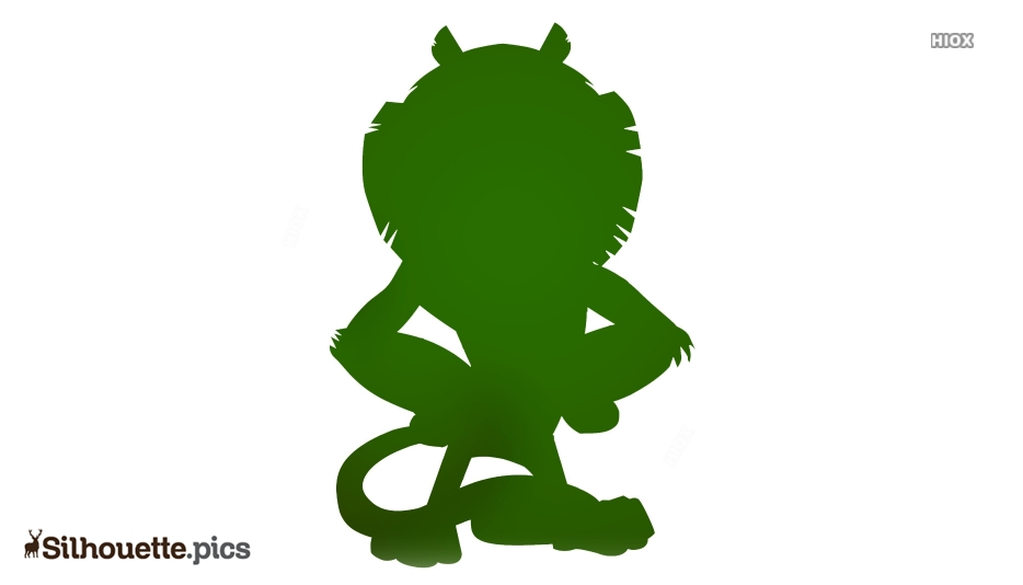 Cartoon Lion Silhouette Vector And Graphics