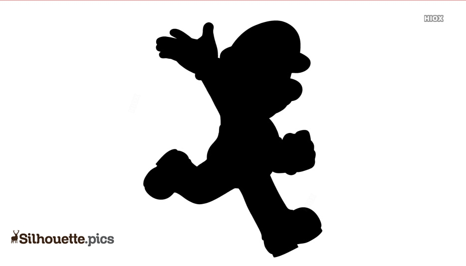 Cartoon Mario Silhouette