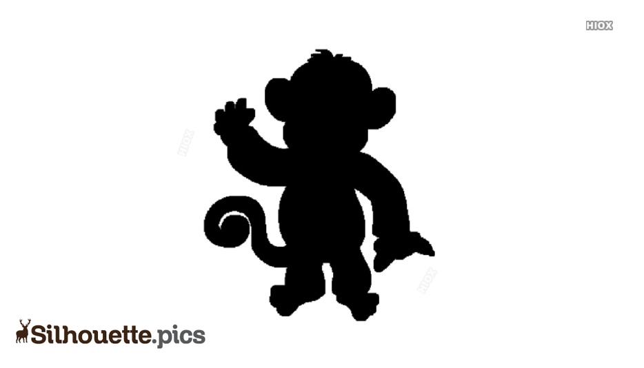 Cartoon Monkey Silhouette Image