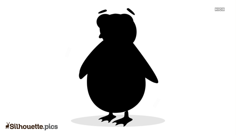 Cartoon Penguin Silhouette Clipart Image