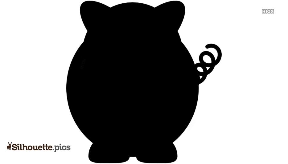 Cartoon Pig Silhouette Free Vector Art