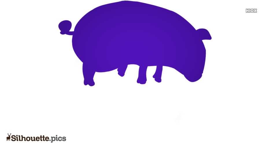 Cartoon Pig Silhouette Image And Vector
