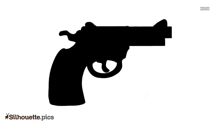 Cartoon Pistol Silhouette Art