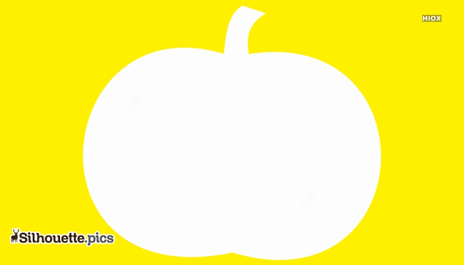 Cartoon Pumpkin Vegetable Silhouette