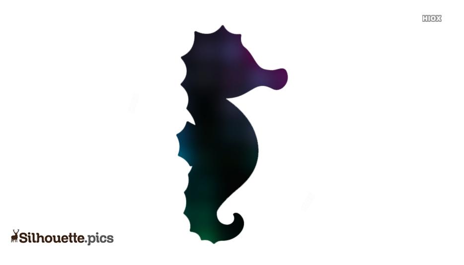 Cartoon Seahorse Silhouette Art